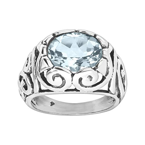Blue Topaz Art - Silpada 'Shade of the Art' 5 ct Natural Blue Topaz Ring in Sterling Silver