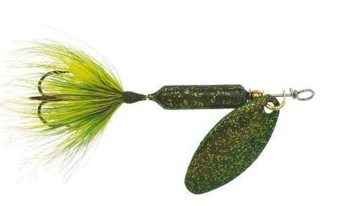 (Yakima Bait Wordens Original Rooster Tail Spinner Lure, Glitter Frog, 1/16-Ounce)