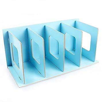 Lianji divisori per documenti 34x16x18cm 1 Fermalibri in legno per libri scaffali da scrivania