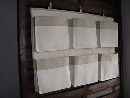 Caddy Unbleached Organizer, Eco Friendly Organizer, Canvas Crib Storage, Linen Nursery Organizer, Girl Boy Storage Bag, Nursery Accessory, Hanging Storage