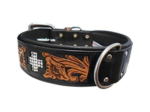 Dorado Leather - Angel Pet Supplies 11086 Leather EL Dorado Collar, 26