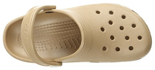Crocs Classic, Zuecos Unisex Adulto Oro (Gold)