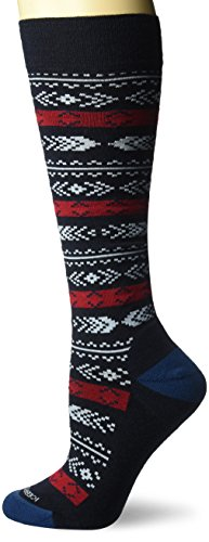 Icebreaker Merino Women's Lifestyle Light Over The Calf Socks, Admiral/Oxblood/Largo, Large by Icebreaker Merino (Image #1)