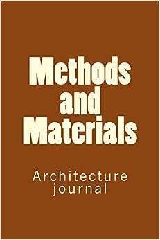 """Methods And Materials: Architecture Journal"" - por Anthony R Carver EPUB MOBI"