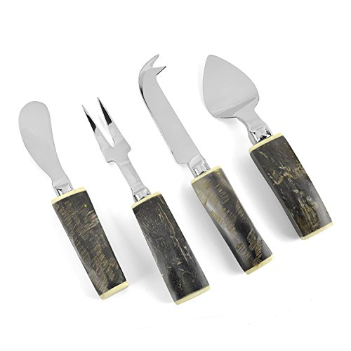 Napa Home & Garden Riverbend 4-piece Cheese Server Set with Horn Handles