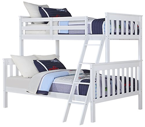 Angel Line Brandon Twin over Full Bunk Bed, White