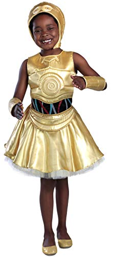 Princess Paradise Classic Star Wars Premium C-3Po Costume, Small, Gold -