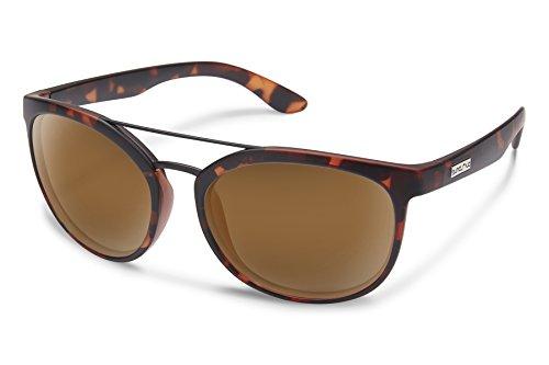 Suncloud Liberty Sunglasses, Matte Tortoise Frame/Brown Polycarbonate Lens, One - Suncloud Sun Glasses