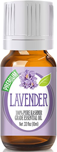 Healing Aromatherapy (Lavender 100% Pure, Best Therapeutic (Kashmir) Grade Essential Oil for Aromatherapy - 10ml)