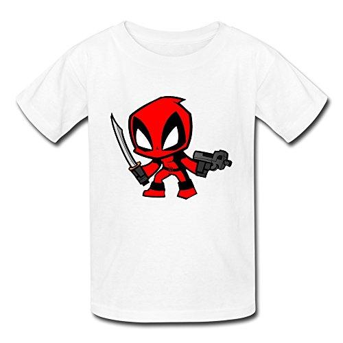 Best Original Costume Ideas (AOPO Deadpool Wade Wilson T Shirts For Kids Unisex Large White)