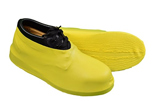 Keystone BC-RBR-25PR Heavy Duty Latex Boot/ Shoe Cover,  Yellow (Pack of 50) by Keystone
