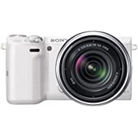 Sony NEX-5T NEX5TK/W Compact Interchangeable Lens Digital Camera with Sony E-Mount 18-55mm f/3.5-5.6 Zoom Lens (White)