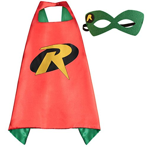 Robin Costumes Whoopgifts Superhero Dress Up Cape with Mask for Kids