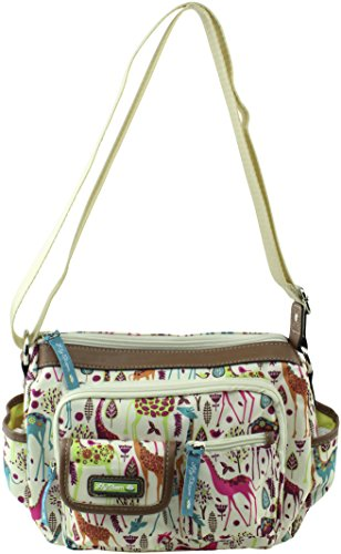 Giraffe Hobo Handbag - Lily Bloom Libby Crossbody Hobo Bag, Giraffe Park