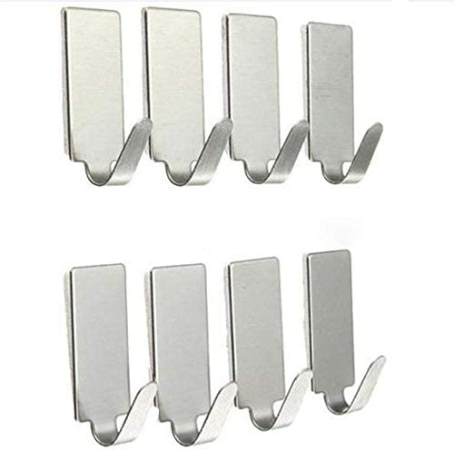 Bathroom Adhesive Hooks Clothes Hanger Stainless Steel Hook Wall Door Holder