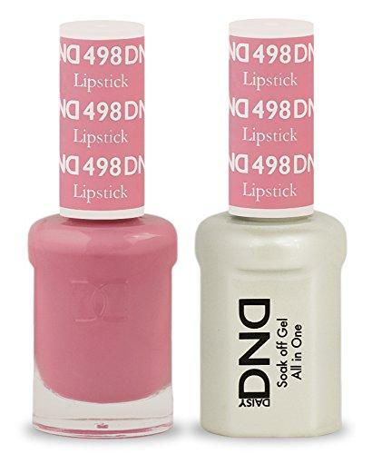 DND Soak Off Gel Polish Dual Matching Color Set 498, (Polish Lipstick Color)