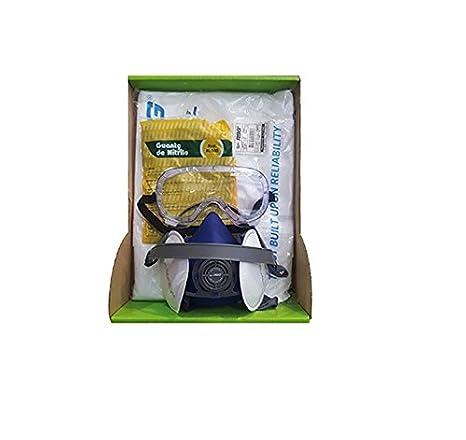 Kit General de Protección General Semi Profesinal EPI. Mascara + Filtros + Gafas + Guantes + Mono Buzo.