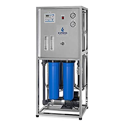 Express Water 8000 GPD Commercial Reverse Osmosis Water Filtration System - 6 Stage High Capacity RO Filtration - Includes Pre-Filters, Multi-Stage Pump, Controller, Gauges, and 4 RO Membranes