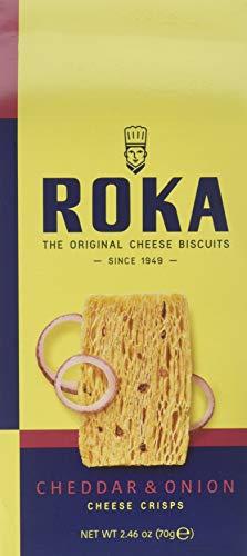 Roka Gouda Cheese - ROKA Cheddar and Onion Cheese Crispies, 2.46 oz.