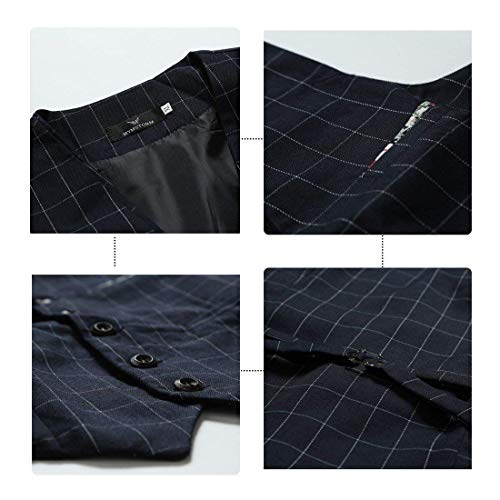 Abbigliamento Nuovo Lattice Sposa Dunkelblau Gilet Business Casual Moda Sportiva Smoking Da Uomo Partito Speciale Giacca O azzUpqw