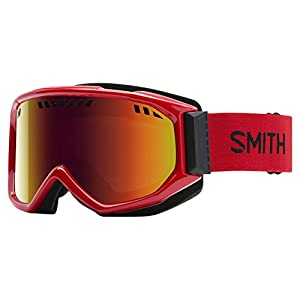 Smith Optics Scope Adult Airflow Series Snocross Snowmobile Goggles Eyewear Fire / Red Sol X Mirror / Medium