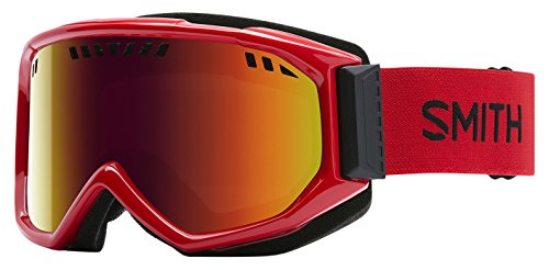 Smith Optics Scope Adult Airflow Series Snocross Snowmobile Goggles Eyewear Fire / Red Sol X Mirror / Medium