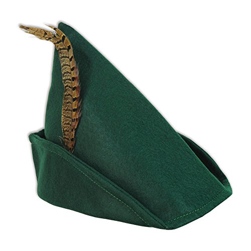 Beistle Felt Robin Hood Hat, Multicolored