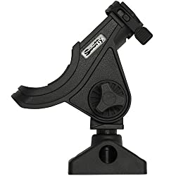 Scotty #280-bk Baitcaster Spinning Rod Holder W #241 Side Deck Mount (Black)