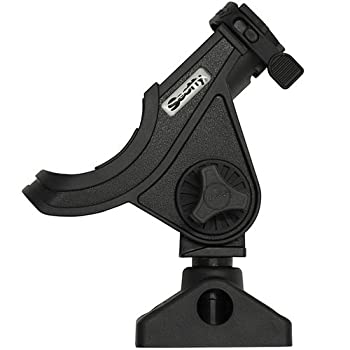 Scotty #280-bk Baitcaster Spinning Rod Holder W #241 Side Deck Mount (Black) 0