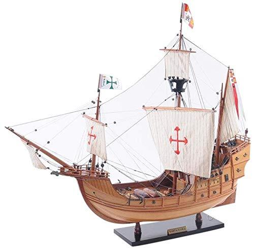 (EuroLuxHome Model Ship Santa Maria Metal Linen New)