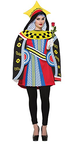 Queen of Hearts Playing Card Adult Costume (Queen Of Hearts Card Adult Costume)