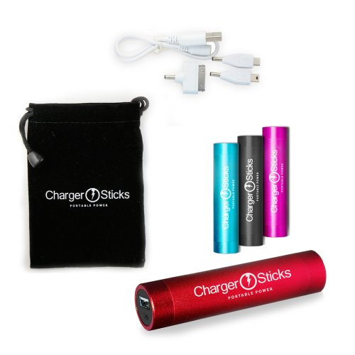 Lipstick Power Bank Portable Charger - Red External Power Bank For Your Iphones, Ipads, iPad Mini, Samsung Galaxy, Droids, Nokia, Blackberries, Cameras, Camcorders, PSPs, and any USB-charged devices. Protect Your Investment - 1 year Guarantee.