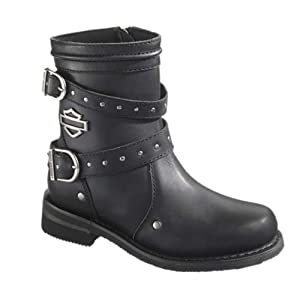 Harley-Davidson Women's Chryse Black Leather 6.5-Inch Motorcycle Boots D87011