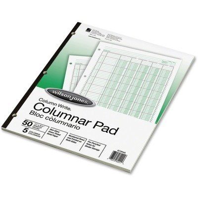 Wilson Jones Accounting Pad, Five Eight-Unit Columns, 8-1/2 x 11, 50-Sheet Pad PackageQuantity: 1 Style: CLASSIC, Model:WLJG7205A, Office Accessories amp; Supply Shop