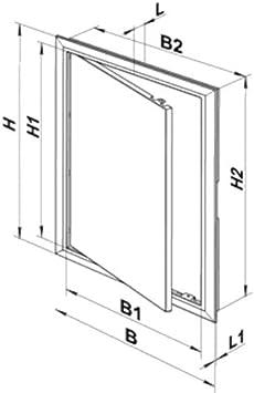 verschiedene Gr/ö/ßen Zugangsplatten f/ür Inspektionshilfe hohe Qualit/ät ABS-Kunststoff