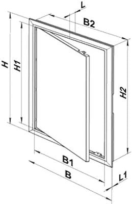 Acceso de inspección trampilla desván paneles de acceso en pared paneles para puerta plástico ABS de alta calidad todas las tallas: Amazon.es: Bricolaje y herramientas