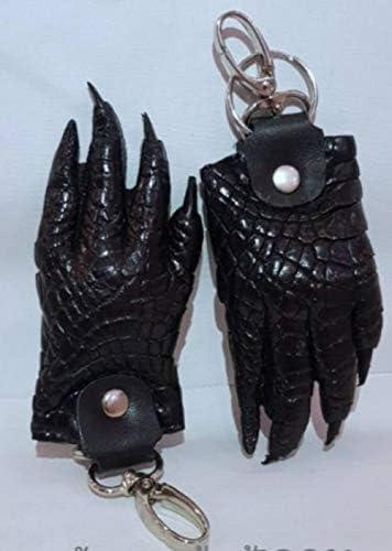 ワニ革製 ワニの手 キーホルダー 1個