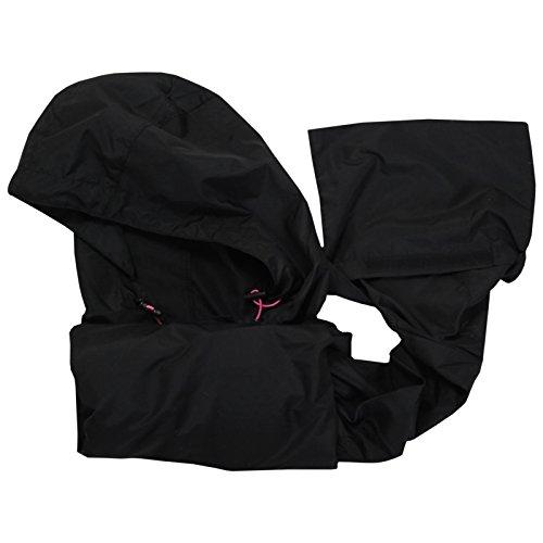 Brave Soul mujeres Raver ligero-Chaqueta impermeable con capucha plegable Mac En una bolsa negro