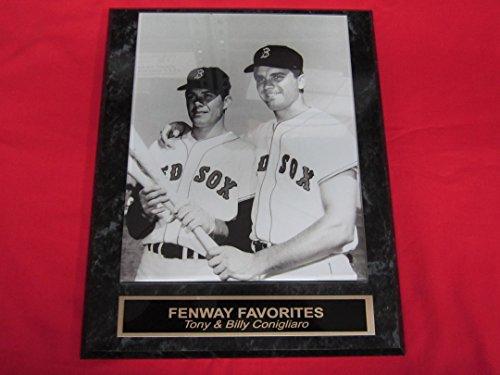 Red Sox Tony & Billy Conigliaro Collector Plaque w/8x10 Vintage Photo