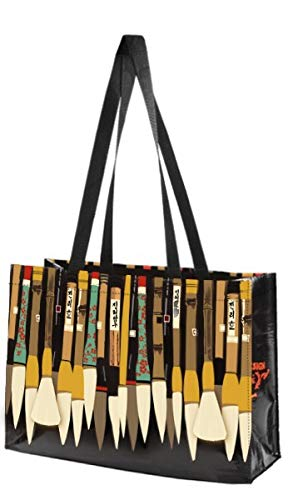 Linnea Design Reusable Grocery Bag, Foldable Bag, Fold Up Reinforced Bottom, Eco friendly, Made of 95% Recycled Material, Holds 70+ Pounds