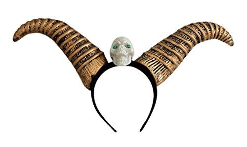 (Dragon Horns Skull Halloween Headband)
