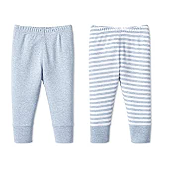 Lamaze Baby Organic Essentials 2 Pack Pants, Blue, NB