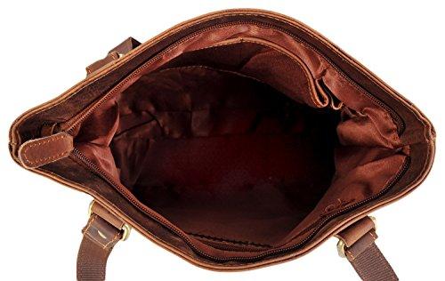 Rowallan - Bolso al hombro de Piel para mujer Marrón marrón