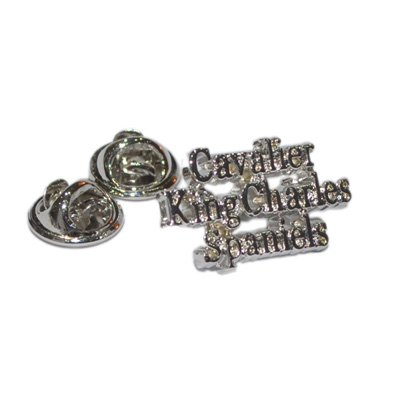Retail Zone Men's Cavalier King Charles Spaniels Lapel Pin Badge Small Dog One Size Silver