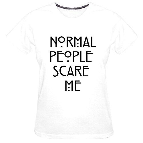 Chimpanzee Women's Normal People Scare Me T-shirt (White - Mal Vancouver