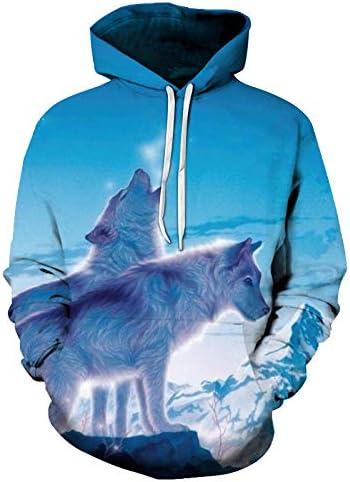 Sweatshirts Tops T-Shirts Kapuzenpullover Herbst New Hooded SweatshirtMen/Frauen Hoodies Malerei 3D Tod Digitaldruck Mode Pullover Lose Liebhaber Hoodies^ Picture_Color_XL
