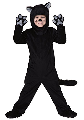 Super Cute Cat Costume (Little Boys' Toddler Black Cat Costume 4T)