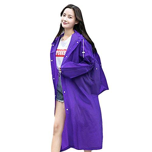 Imperméable Voyage Day Trekking Femme Wupo Adulte b Alpinisme Pourpre En Portable Rain Plein Transparent Air Poncho fnd0AwqUw