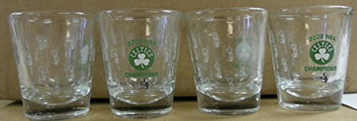 - Boston Celtics NBA 2008 Champions 4 Piece Shot Glass Set