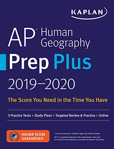 Pdf Teen AP Human Geography Prep Plus 2019-2020: 3 Practice Tests + Study Plans + Targeted Review & Practice + Online (Kaplan Test Prep)